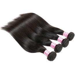 Wholesale Healthy Natural Hair - Straight Virgin Human Hair Healthy Brazilian Mongolian Malaysian Remy Human Hair Weaves Bundles Soft Hair Extensions