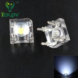 Wholesale Flux Car - Wholesale- 100pcs LED 5MM Piranha Super Flux White Leds 4 pin Dome diodes Wide Angle Super Bright Light Lamp For Car Light