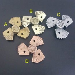 Wholesale Play Straight - Playing cards Straight flush fidget Spinners note Torqbar fidget HandSpinner Toy Decompression Colorful color toys B