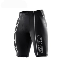 Wholesale Slim Compression - Hot Men fashion shorts Men's Compression Tights Shorts Bermuda Masculina Men Short Pants for Cycling Running Gym Stadium