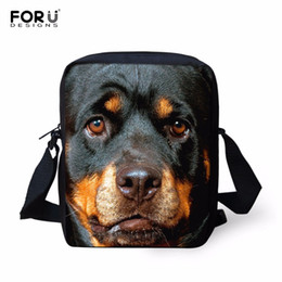 Wholesale Rottweiler Bag - Wholesale-FORUDESIGNS 2016 Casual Brand Animal Rottweiler Pattern Messenger Bag for Women Mini Teenager Girls Crossbody Bag Mini Bags