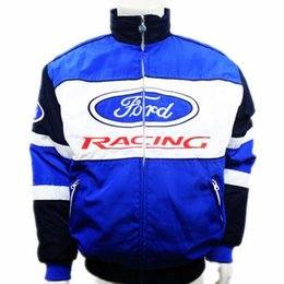 Wholesale Motorbike Pads - Brand winter F1 racing suit car motorcycle jacket karting drift game men auto moto motorbike Cotton-padded clothing for ford