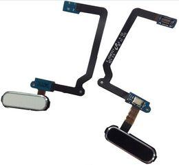 Черный кабель онлайн-Оригинальный новый замена главная кнопка Меню ключ датчик отпечатков пальцев Flex кабель для Samsung Galaxy S5 i9600 G900A G900V G900f белый черный золото