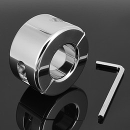 Wholesale Testicle Locks - 980g Weight Stainless Steel Metal Screw Locking Penis Ring,Scrotum Testicle Lock,Cock Ring,Cock Clamp,Adult Game,A034