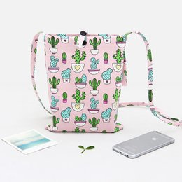 Wholesale Cactus Fabric - Popular Leisure Bags For Girls European and American Style Cotton Canvas Cactus Bag New Arrival Wholesale Hot Sale