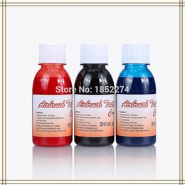 Wholesale Phoenix Bodies - Wholesale- 3 Bottles Golden Phoenix Temporary Airbrush Tattoo Ink For Body Art Paint Makeup Free Shipping