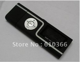 "Wholesale China Mp3 Player - Wholesale- 3pcs USB flash drive mp3 player 4GB Dual headphone jacks 1.3"" USB2.0 2 color matte plastic material China Post Free Shipping"