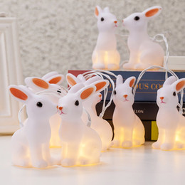 Wholesale Wholesale Decorative Bunnies - Battery Operated 10 LED Indoor Easter Decorative Bunny String Lights holiday and lighting LED Strings indoor