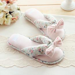 Wholesale Nice Flip - Wholesale-Kawaii Slippers New Nice Slippers Spring Ladies Cute Floral Bow Clip Waterproof Home Indoor Pantoufle