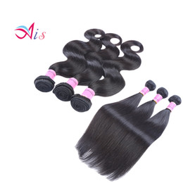 Wholesale Hair Extensions Dhl Free - WHOLESALE Brazilian Hair Weaves Unprocessed Hair Bundles Human Hair Weave DHL Free Shipping Body Wave Or Straight Extensions