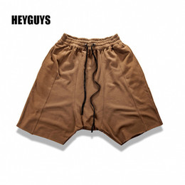 Wholesale New Corduroy Wear - Wholesale-HEYGUYS 2016 New Arrival Brand Shorts Man high street Short MEN belt wear Casual shorts sweatpants hip hop usa cotton