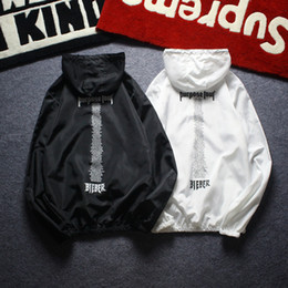 Wholesale Men S Thin Leather Jackets - Purpose Tour Jacket Mens Casual Fashion Hip Hop Sun Protection Thin Hoodie Jacket Justin Bieber Jacket Windbreaker Purpose Tour
