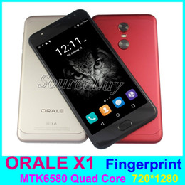 Wholesale Cell Network Android - 5.5 inch fingerprint unlock mobile phones dual sim android mtk6580 quad core 3G WCDMA network 1+8GB gesture wake ORALE X1 cell smartphone
