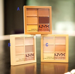 Wholesale Cheap Shipping Beauty - 120pcs 6 Colors NYX Concealer Makeup Conceal Correct Contour Palette Brand Face Beauty Cosmetic Cheap Price On Sale Free Shipping