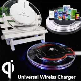 Wholesale Fantasy Lights - QI Wireless Charger Charging Pad Fantasy High Efficiency Blue Light Crystal For Elephone P9000 Samsung S7 S6 Edge Google Nexus 6 G0127