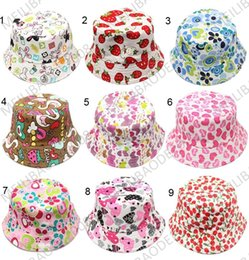 Wholesale Baby Sunhats - 30-Colors New Fashion Baby sunhats Children bucket hat kids flower casual caps HSA0506