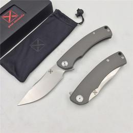 Argentina Envío gratis, YX-650 original envío libre voladura antideslizante gris titanio mango cuchillo D-2 cuchillo de caza al aire libre supervivencia bolsillo cuchillo EDC Suministro