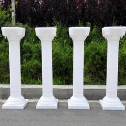 Wholesale Roman Supplies - Upscale Style Roman Columns White Color Plastic Pillars Road Cited Wedding Props Event Decoration Supplies 4 pcs lot