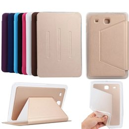 Wholesale Top Tablets China - Fashion Top Quality PU Leather Cover for Samsung Galaxy Tab E 9.6 T560 T561 Tablet Case Flip card slot case for SM-T560