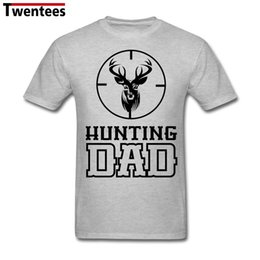 Wholesale Hunting Shirts For Men - Men Man's Funny Dear Deer Hunting Dad T Shirt Short Sleeve Cotton T Shirts For Boy