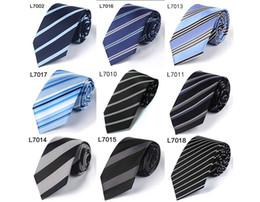 Wholesale Men S Silk Business Ties - Men 's tie polyester silk Korean business 7cm dress tie interview tie professional collar spot wholesale