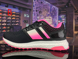 Wholesale Energy Ups - 2017, the latest version of spring energy boost sports shock slow running shoes knitting fashion men's and women running shoes 36-44