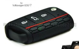 Wholesale Silicone Car Key Cover Vw - NEW Car Accessories Key Case Key Bag Key Cover For Volkswagen VW Golf 7 mk7 Skoda Octavia A7 Silicone Portect Case1pc per set MYY