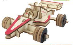 Wholesale 3d Wooden Car Puzzle - Car model combination 3D stereo puzzle laser cutting wooden model DIY children's creative toys