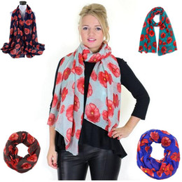 Wholesale Voile Pink - Factory Direct Sale Flower Print Voile Cotton Infinity Scarf Fashion Circle Scarf Large Size Long Scaves Women around Scarfs 8 COLOrs