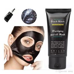 2019 masque coréen de blanchiment SHILLS Masque pour le visage Blackhead, masque de nettoyage en profondeur, masque noir, 50 ml, envoi rapide