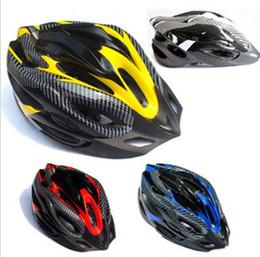 Casques carbone en Ligne-Casque de vélo Texture en fibre de carbone Équipement de vélo de montagne Pièces d'équipement Unisexe Multi Couleur En option Ultralight Casque de vélo New 19yq F