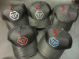 Wholesale Mesh Hip Hop Cap - Brand PP Skull Caps ICON cap Hip Hop summer Brand Baseball Cap Hat Letter 78 Caps Snapback Mesh PP cap for Men Women