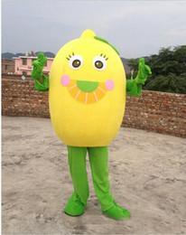 Wholesale Lemon Fancy Dress - free shipping 2017 new customized lemon Mascot Costume Character Fancy Dress Adult Outfit