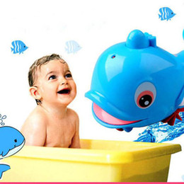 Wholesale Small Wind Up Toys - Wholesale- Fashion Lovely Born Babies Swim Dolphin Wound-Up Chain Small Animal Baby toys for Bathroom bath toy for bathing