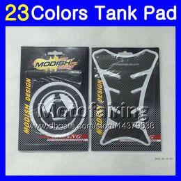 Wholesale Zx6r Tank Pad - 23Colors 3D Carbon Fiber Gas Tank Pad Protector For KAWASAKI NINJA ZX6R 13 14 15 16 ZX-6R 6 R ZX 6R 2013 2014 2015 2016 3D Tank Cap Sticker