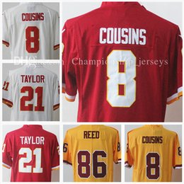 Wholesale High Quality New Men S - 8# Kirk Cousins new Stitched men's jersey 21 Sean Taylor 86 Jordan Reed Cheap High quality Embroidery jerseys