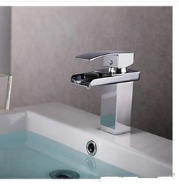 Wholesale Top Waterfall Faucet - Wholesale Exposed Colorful LED Lamps Rain Shower Heads Chrome Contemporary 8 Inch Square Stainless Steel Bathroom Top Shower Head