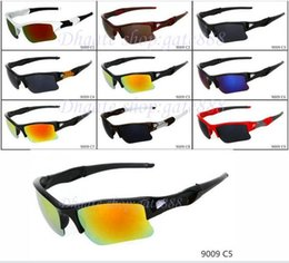 Wholesale good half - Good Quality new fashion men' s Bicycle Glass Outdoor Sport sunglasses Google Glasses mix color 9color.