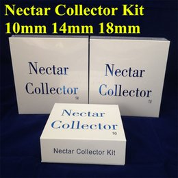 Wholesale Usa Pipes - Nectar Collectors kits with domeless quartz Nail 10mm 14mm 18mm nector collector oil rigs glass bongs water Pipes glass DHL Free to USA