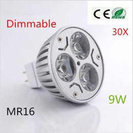 Wholesale Mr16 Led Downlight Globe - Wholesale Super Bright Energy Saving Dimmable MR16 9W 12V High Power LED Light Bulb Downlight Lamp Cool Warm white Globes Lamp