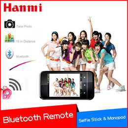 Wholesale Controle Remoto Wireless - Wholesale- Tracking Number Wireless Selfie Stick Bluetooth Remote Shutter Control Self-timer Remoto Controle Da For Android IOS Smart Pho