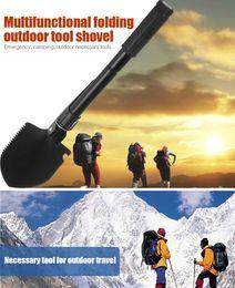 Wholesale Trowel Spade Wholesale - Multi-function Military Portable Folding Camping Shovel Survival Spade Trowel Dibble Pick Emergency Garden Outdoor Tool