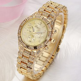 Wholesale New Factory Design - Factory Price Luxury Mens Womens Diamonds Watch new quartz Diamond crystal watches top luxury Famous Design Gold Rose Gold Silver