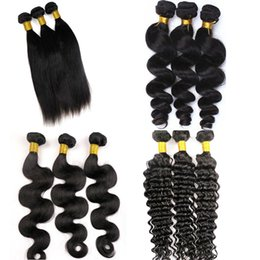 Wholesale Ombre Machine Weft Hair - Virgin Hair Weaves Brazilian Human Hair Bundles Wefts 100% Unprocessed Peruvian Indian Malaysian Cambodian Weaving Human Hair Extensions