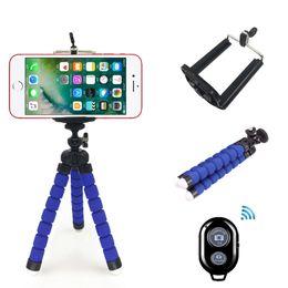 Wholesale Mini Smart Phone Stand - Mini Phone Tripod Stand - TriFlex Mini - Flexible iPhone Tripod for Smart phone Bracket Stand Holder Mount Monopod With Remote Control