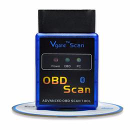 Wholesale Elm327 Vgate Scan - Super mini ELM327 B V1.5 Bluetooth Vgate Scan On Android OBD2   OBDII Elm 327 v1.5 Diagnostic Tool & Code Reader 5 Protocols