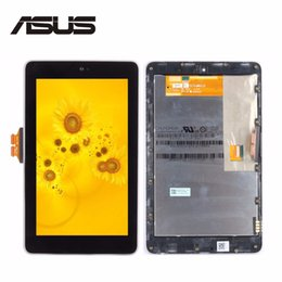 """Wholesale Nexus Replacement Display - Wholesale- High Quality 7""""Inch for ASUS Google Nexus 7 1st ME370 LCD Display + Touch Screen Full Assembly with Frame Tablet PC Replacement"""