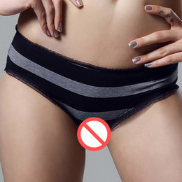Wholesale Mesh Undies - Tanga Panties Mesh Trimmed Sexy Lingerie Women Undies Knickers Size 8 10 12 14