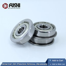 Wholesale Printer Specials - Wholesale- Desktop 3D Printer Special Flange Bushing Ball Bearing F624ZZ (10PCS) 4X13X5mm F624 For Kossel  Prusa i3 Parts Free Shipping