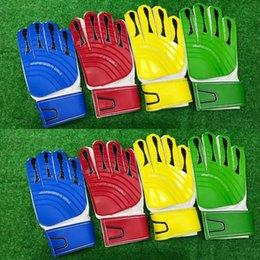 Wholesale Light Blue Gloves - adult Light board glove gloves goalkeeper gloves men soccer game training gloves protection green blue red yellow One Size